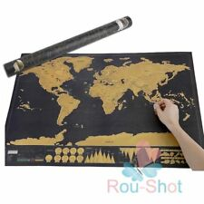 2pcs Deluxe Scratch off World Map Poster Personalized Travel Vacation Personal