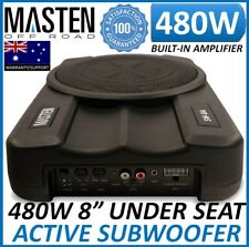 "# 8"" 480 W Active Slim Low Profile Powered Built-in Amp Enclosure Subwoofer RC"