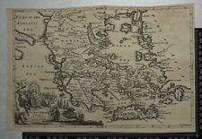 Topographic Map Of Ancient Greece.Greece Antique Original Antique Europe Topographical Maps Ebay