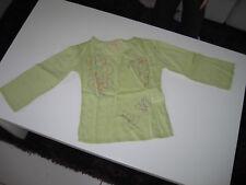 T-shirt/tunique vert fille motifs en TBE - 4 ans