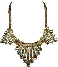 Fashion Halskette mit Wimpel Anhänger Statement Gold Platin Crystal necklace