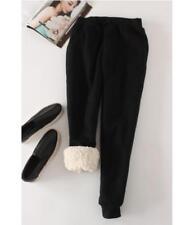 Women Fleece Warm Sports Pants Solid Winter Loose Trousers Sweatpants Harem
