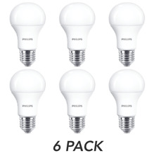 Philips LED ES E27 Edison Screw Light Bulbs, Frosted, 8 W 60 W Warm White 6 Pack