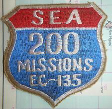 Rare Patch - 200 SEA MISSIONS - STRATOLIFTER - USAF EC-135 - Vietnam War - 1775