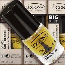 Logona Natural Nail Top Coat Überlack 4ml Nagellack Naturkosmetik Bio transpar.