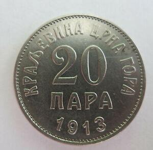 MONTENEGRO Yugoslavia 20 para 1913 XF+