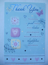 WONDERFUL COLOURFUL LOVELY WORDED THANK YOU GREETING CARD