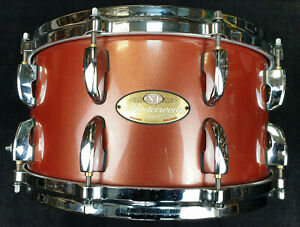 """Pearl Masterworks 14x6,5"""" Snare Drum Red Sparkle Maple / Rullante"""