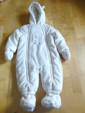 "Baby Schneeoverall ""Frosty Times"", mit Kapuze, abnehmbare Fäustlinge,"