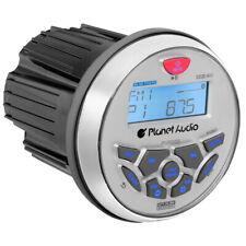 "Planet Audio Pgr35B Round Marine Radio 3.5"" Diameter Bluetooth Rear Aux Input"
