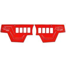 2 Piece 8 Switch Dash Panel Aluminum Red Powdercoated fits Polaris RZR XP1000