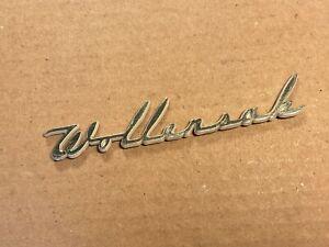 Vintage Wollensak Logo Metal Nameplate Badge for Reel to Reel Tube Amplifier