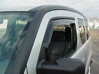 Smoke Tinted Out-Channel Vent Visor Deflector 4pcs For 2003-2011 Honda Element