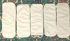 Lot de 5 inserts de couches lavables pack, 3 couche microfibre blanche