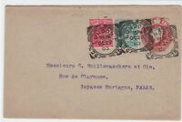 london to paris 1903 multi  stamps cover ref r13267