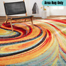 5x7 Decorative Area Rug Contemporary Inspired Abstract Pattern Soft Comfy Carpet
