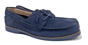 Banana Republic Size 12 Blue Suede Shoes Leather Italian Loafers Classic Comfort
