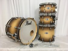 """Pearl Masters Complete MCT 4 Piece Drum Kit W-13"""" Snare/#351/Satin Natural Burst"""