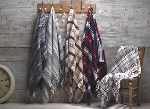 Premium Tartan Check Style Cotton Throw / Blanket