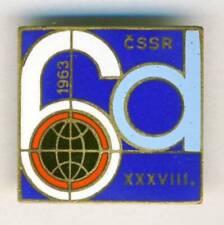 1963 FIM Six Days ENDURO Motorcycle PIN Badge ISDE ISDT blue
