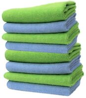 Large Microfibre Cleaning Cloths Car Bathroom Polish Towels Microfiber 40x40cm