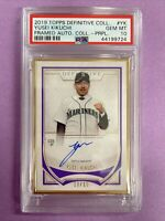 2019 Topps Definitive Yusei Kikuchi RC Purple Framed Auto 10/10 PSA 10 GEM MINT