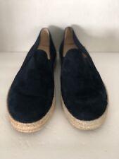 Stuart Weitzman Blue Nappa Size 10 Espadrille Slip On Sneakers Flats Shoes Spain