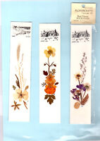 Bookmark Land's End Bude Cornwall Cornish Dried Pressed Flowers Souvenir Gifts