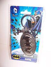 Licensed DC COMICS BATMAN LOGO Pewter KEY CHAIN KEYRING Keychain Fob NEW!