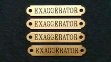 "HALTER PLATE MEDIUM 3 1/2"" .032""  BRASS Custom Engraved Horse or Pet ID Tag"