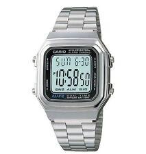 Vintage Casio A178WA-1A Digital Silver Watch A178 #ONSALE