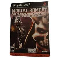 Mortal Kombat Armageddon Premium Playstation 2 PS2 Steelbook CIB w/Art Shao Kahn