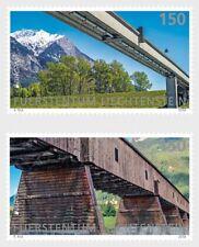 Ponts EUROPA LOT DE 2 MNH Timbres 2018 LIECHTENSTEIN ANCIEN RHIN PONT Vaduz