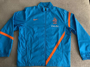 HOLLAND NIKE NETHERLANDS KNVB EURO 2012 PLAYER ISSUED WOVEN JACKET MENS LARGE