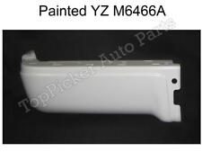 PAINTED WHITE REAR BUMPER END LH FOR 2009-2014 FORD F150 STYLESIDE W/O HOLE