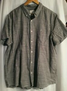 Men's American Eagle AEO Gray Casual Button-Down Short Sleeve Shirt XXL New Tag