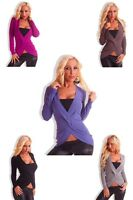 Sexy Women Clubbing Pullover Ladies Jumper Party Top Size 6 8 10 12 Blouse Shirt