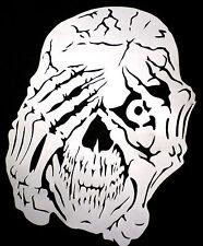 high detail airbrush stencil  peeping  skull   FREE UK POSTAGE