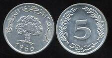 TUNISIE  5 millim  1960  SPL