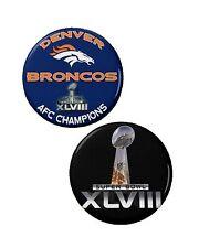 Denver Broncos Buttons (2) 1 1/4'' AFC Champions Super Bowl 2014