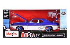 Maisto 1969 Pontiac Firebird Blue/White 1/24 Diecast