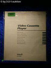 Sony Bedienungsanleitung EV P25E Video 8 Cassette Recorder (#0303)