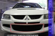GTG 2003 - 2006 Mitsubishi Lancer Evo 8 1PC Black Overlay Bumper Billet Grille