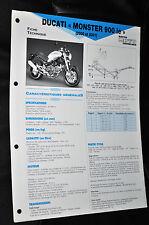 Fiche technique moto de Ducati Monster 900 ie de 2000 et 2001