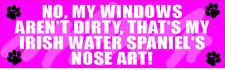 My Irish Water Spaniel Nose Art Sticker
