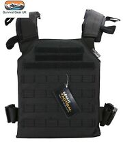 Kombat UK Spartan Molle Plate Carrier Black Aitsoft Military Army Paintball