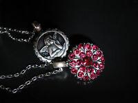 MARIANA GUARDIAN ANGEL JULY BIRTHSTONE SWAROVSKI CRYSTALS RUBY NECKLACE Pendant