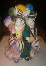 Fitz & Floyd Ballooning Bunnies Promenade Vase Bunny Balloon with Box