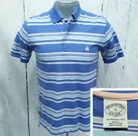 BROOKS BROTHERS S Small Slim Fit (Runs XS) Polo Style Short Sleeve Shirt Lt Blue