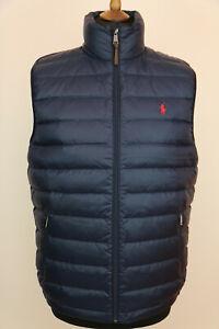 Polo Ralph Lauren Mens Navy Down Quilted Gilet Bodywarmer Waistcoat size L